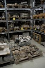 View of some of the scanned fragments at the Nidaros Cathedral storage facility at Dora, Trondheim, Norway