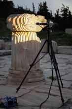 High-resolution scanning of heavily eroded surface of a column at Elefsis, Greece.